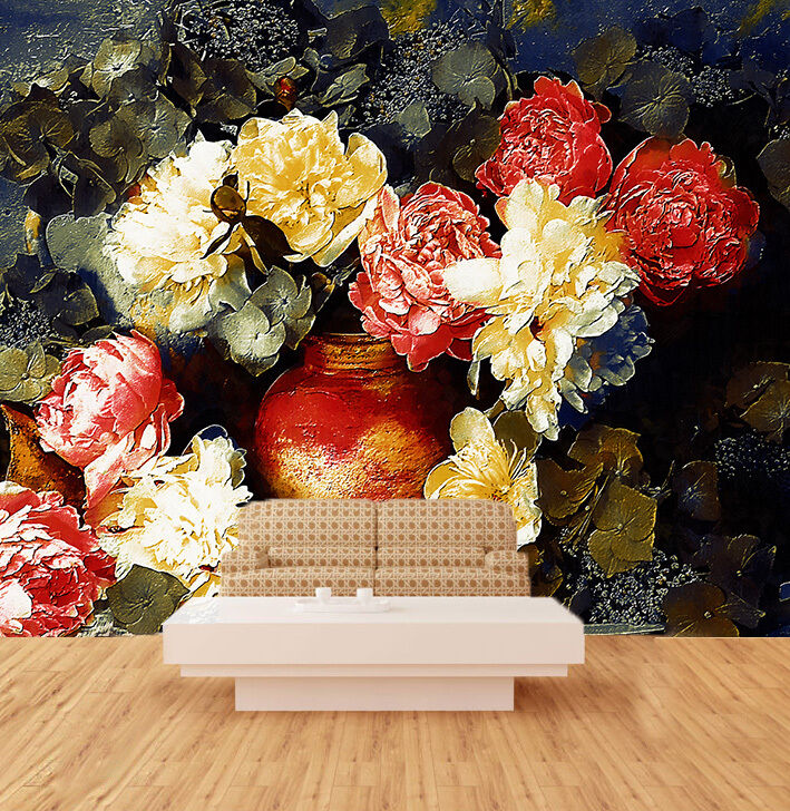 3D Bouquet Painted 981 Paper Wall Print Wall Decal Wall Deco Indoor Murals