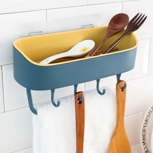 Bathroom Suction Rack Organizer Cup Storage Shower Wall Basket Towel Hook Tools