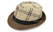 86919314b2f item 4 Men Women Timelessly Classic Structured Fedora Hat Plaid Design  Short Brim -Men Women Timelessly Classic Structured Fedora Hat Plaid Design  Short ...
