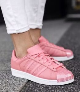 1711 adidas Originals Superstar Metal Toe Rose Women's Sneakers Shoes BY9750
