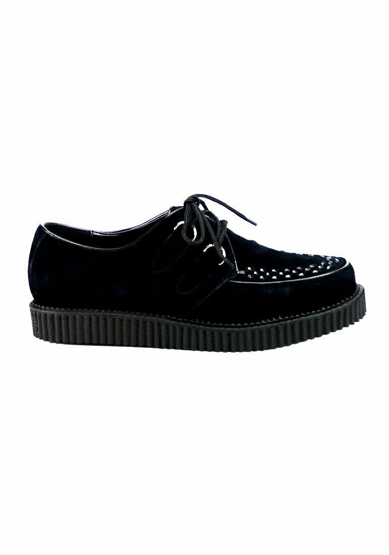 Demonia CREEPER-602S Men'S 1 Inch D-Ring Lace-Up Suede Creeper shoes