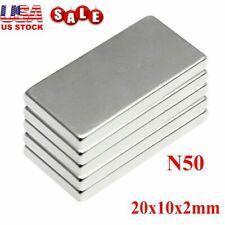 1 50x 20x10x2mm N52 Neodymium Block Magnet Super Strong Rare Earth Magnets Lot