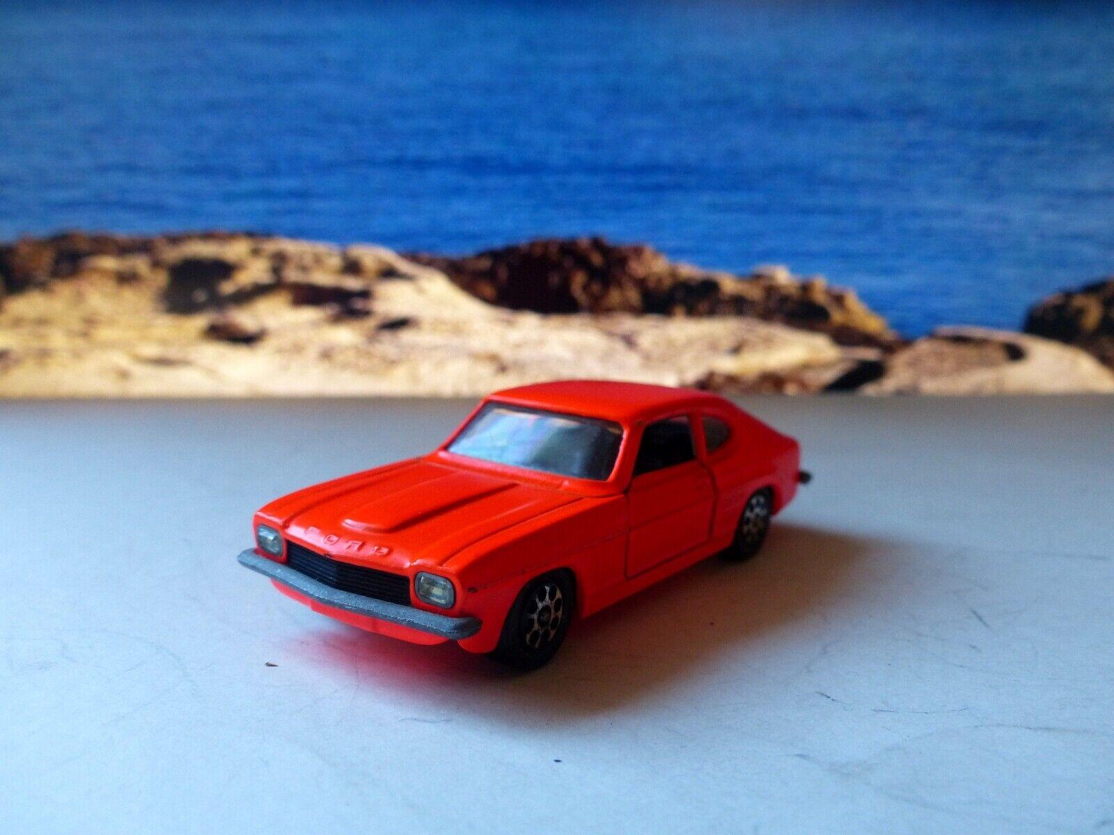 Corgi Toys 311 Ford Capri 3 Litre in fluorescent orange