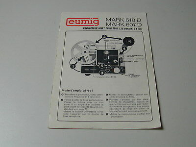 Eumig Projector Mark Leaflet 610d 607d Cinema Super 8 And border=