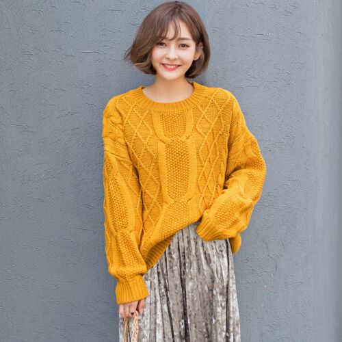 Short Magliette Sweatersr Collar Womens Round larghe Sweet Knitting casual qYEaxZxn
