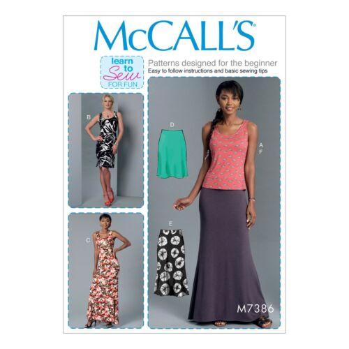 McCalls Schnittmuster M7386 Rock Kleid Top