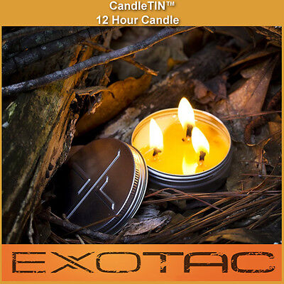 Candle-TIN Long Burning Survival & Emergency Candle - Self Contained