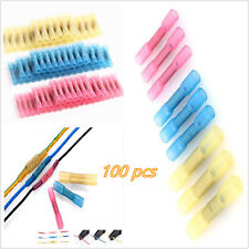 100X22-10AWG Heat Shrink Car Butt Connectors Electrical Wire Crimp Terminals Kit
