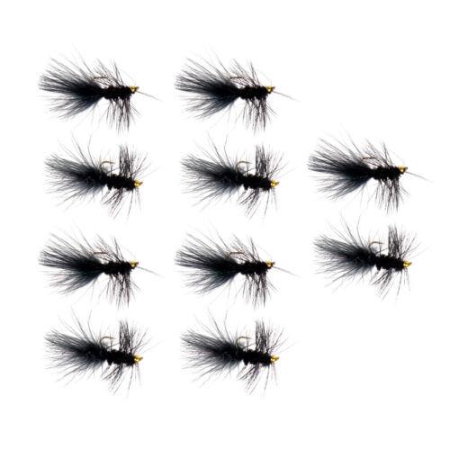 satz Nymphe und Streamer Fliegenköder Assotment für Forelle 10 teile