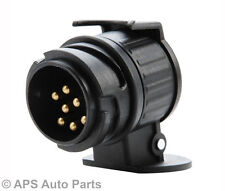 Waterproof Towbar Towing Socket 13 to 7 Pin Trailer Truck Electric Adapter Plug