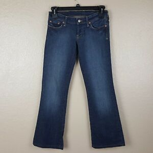 Lucky-Brand-Womens-Jeans-Lil-039-Maggie-Long-Length-Size-26-Blue-Stretch-Denim-RB13
