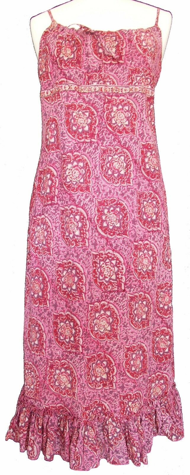 Anokhi floral knee length strappy dress - 100% Cotton