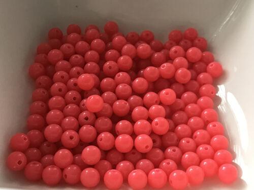 Acryl Perlen Kugel pink 200 Stück 6 mm Spacer Basteln Schmuck Basteln 9065