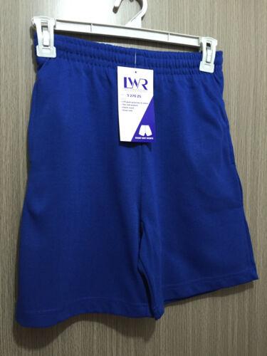 BNWT Kids Sz 6 LW Reid Royal Blue Elastic Waist School Sports Rugby Knit Shorts