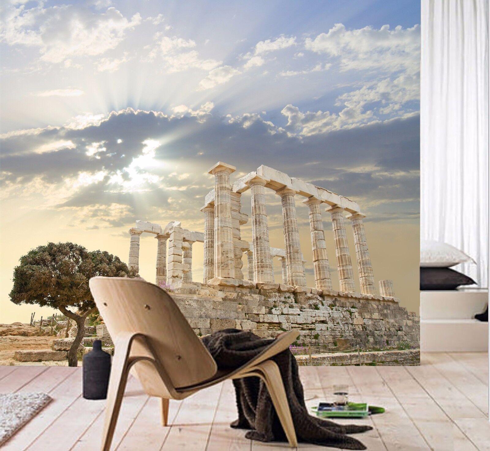 3D Gebäude Sonnenschein 883 Tapete Wandgemälde Tapeten Bild Familie DE Jenny