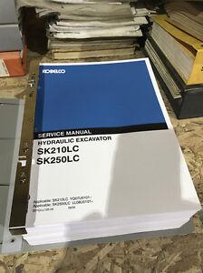 image is loading kobelco-sk210lc -sk250lc-hydraulic-excavator-repair-shop-service-
