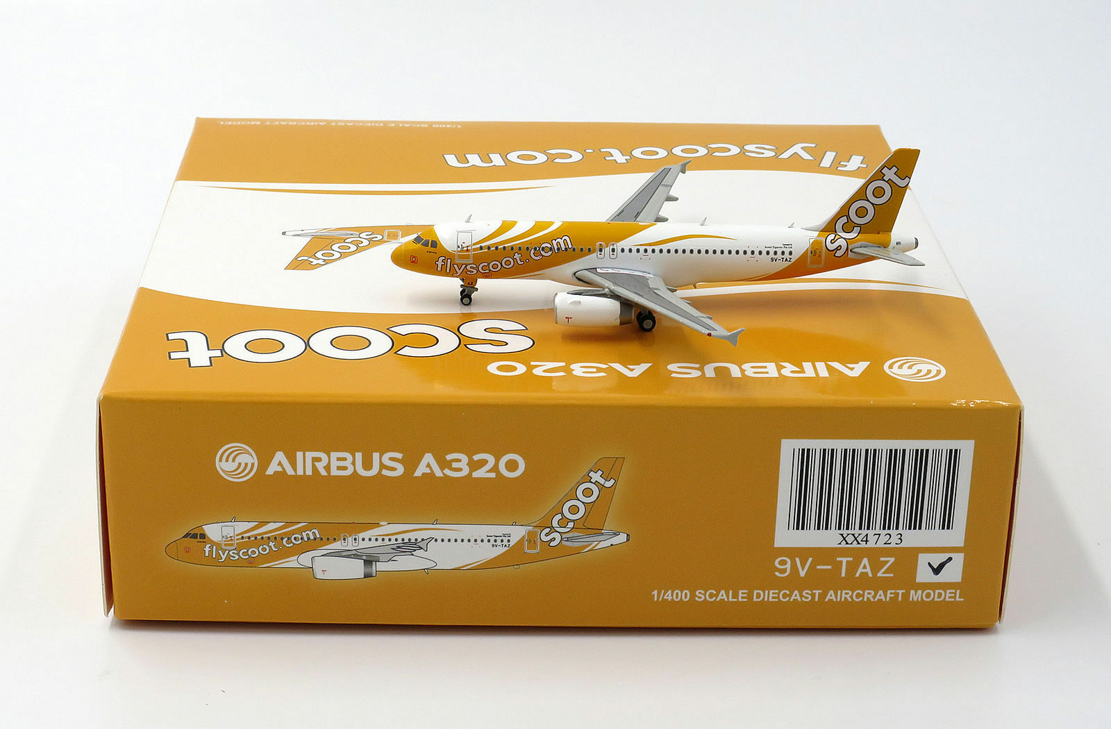 JC Wings 1 400 Scoot Singapore Airbus A320-200 'Ki Jiak Hong' 9V-TAZ (XX4723)