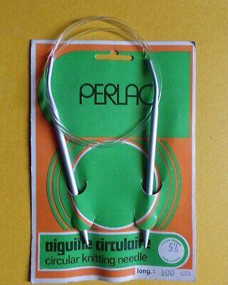 aiguille à tricoter circulaire 2.0-5.0 longueur total 100cm longueur tige 14 cm