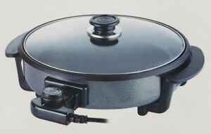 Elektrische-Fleischpfanne-Pizzapfanne-Grillpfanne-39cm-Durchmesser-Brat-Pfanne