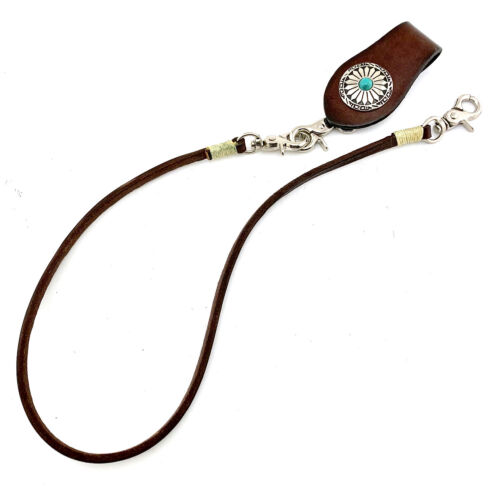 Genuine Leather Wallet Chain Hasp Keychain Biker Purse Chain