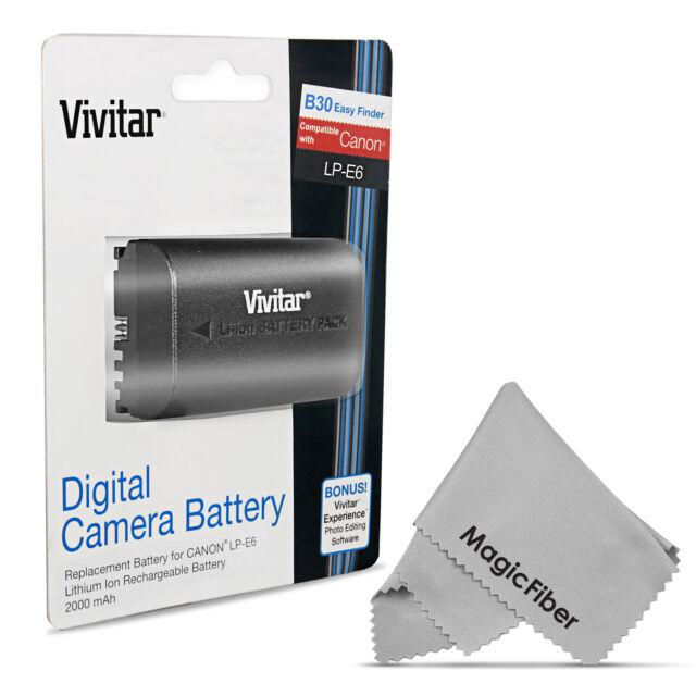 Vivitar LP-E6 Battery for Canon EOS 5D Mark IV, 5DS R, 6D, 7D Mark II, 70D, 80D