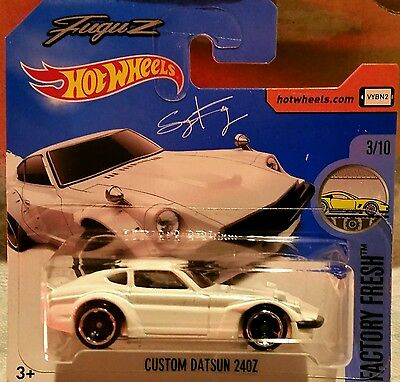 """UK Card Hot Wheels Orange #174 /""""FuguZ/"""" Custom Datsun 240Z"""