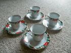 4 TIENSHAN DECK THE HALLS CUPS SAUCERS MORE AVAILABLE