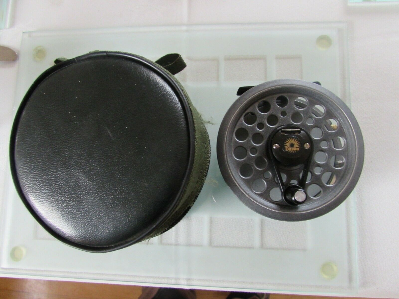 A1 VINTAGE Youngs DAIWA Osprey Moltiplicatore speedex 1500 FLY FISHING REEL & Sacchetto