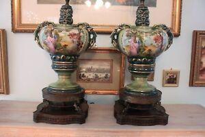 2 Vintage Quot George And Martha Washington Quot Porcelain