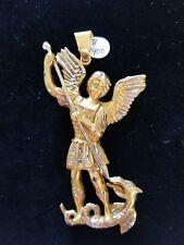 Saint St Michael Archangel Triptych Gold Foiled Wood Foldable