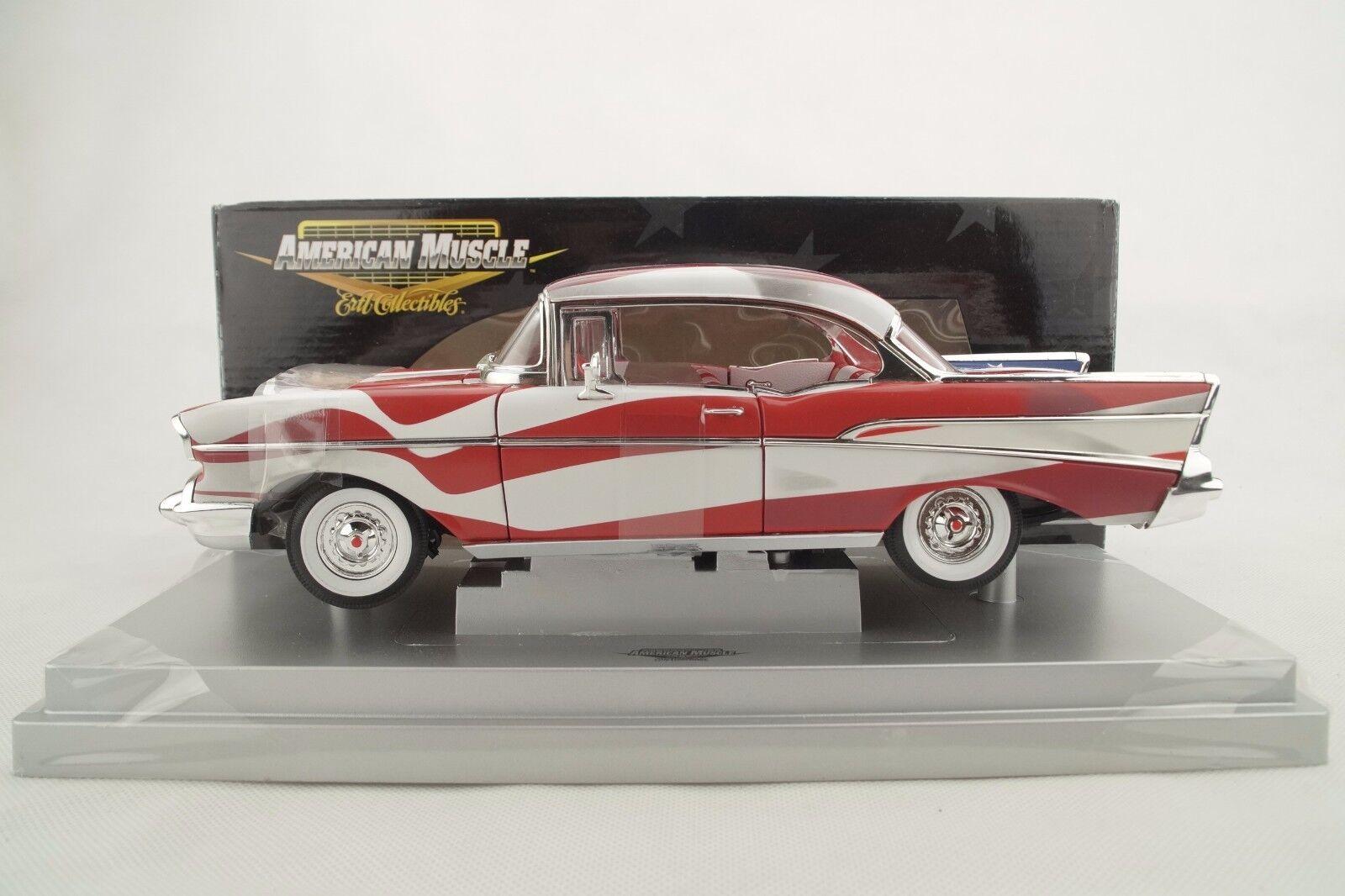 1 18 Ertl - 1957 Chevy Bel Air  Stars and réparti  - RARE-Neuf Neuf dans sa boîte