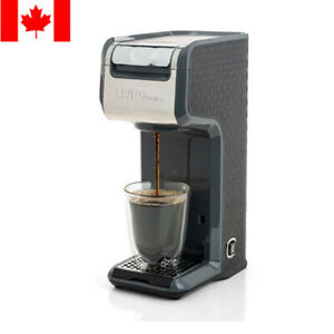 2 In 1 Single Serve Coffee Maker Brewer, Ground & K-Cup Pods, Slim Design, Grey