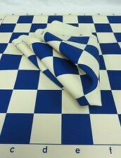 """BLUE SILICONE CHESS BOARD - TAKES THE ABUSE - MAINTAINS IT'S SHAPE! - 2 1/4"""" Sq"""