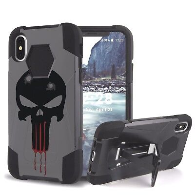 online store 08b1c 59168 Punisher Spartan Skull Hybrid Armor Rugged Tactical Case for iPhone  XS,X,8,7,6 | eBay