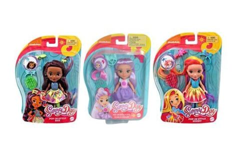 Nickelodeon Sunny Day Pop In Style Sunny Blair and Rox Dolls Set of 3