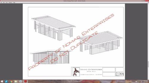 PLANS Studio Garage Blueprints Plans Mancave Building Plan Contemporary Shed