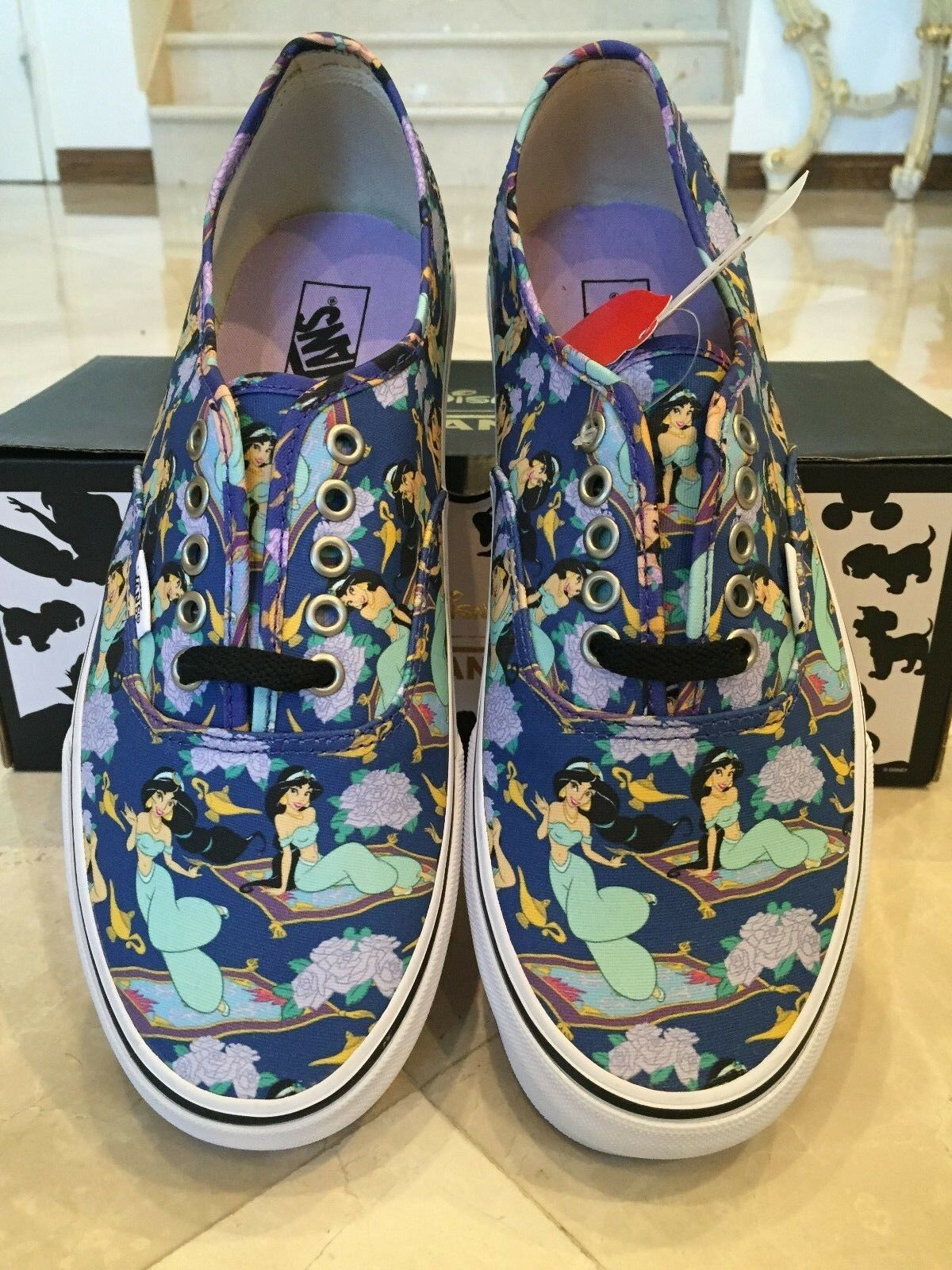 Authentic Disney Princess Jasmine Vans Men's Size 10 (Women's Size 11.5)