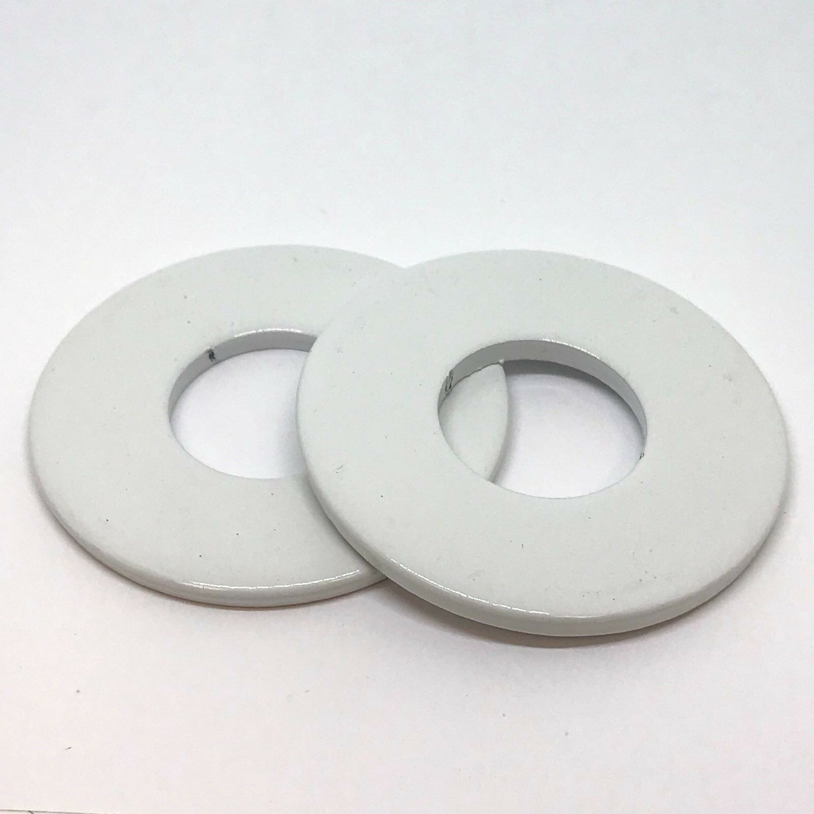 (48) 2-1 2  Powder Coated Washer Toss Washers - Scratch and Dent - Bulk - White