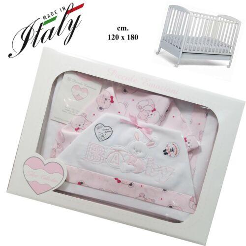 Komplett Blätter Wiege Made in Italy Cm 120 X 180 T /& R Baby Kinderbett