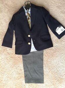 NWT-Nautica-boys-4-pc-suit-size-3-3T-blazer-shirt-tie-dress-pants