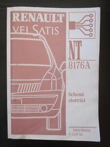 Schemi Elettrici Renault : Renault vel satis schemi elettrici manuale originale officina note