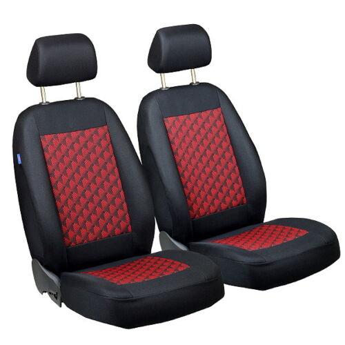 Noir-rouge effet 3d Sitzbezüge pour TOYOTA HILUX Siège-auto référence sur le devant
