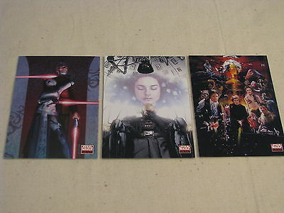 Star Wars Galaxy Series 4 Rare  Promo Card Set P1 P2 P3 Wizard Exclusive