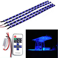 Car Boat Wireless Remote Control Motorcycle Led Light Strip Kit Blue Dc 12v