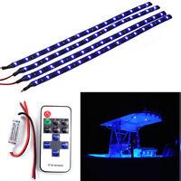 Car Boat Wireless Remote Control Motorcycle Led Light Strip Kit Blue Dc 12v