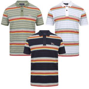 Tokyo-Laundry-Men-039-s-Bakersfield-Striped-Polo-Shirt-Stripy-Retro-Vintage-T-Shirt