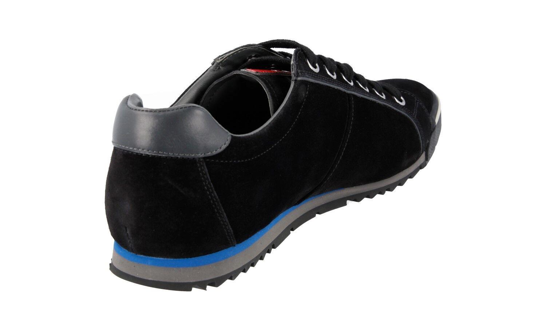 LUXUS PRADA SNEAKER Zapatos 4E2719 Negro WILDLEDER NEU NEU NEU NEW 6,5 40,5 41 210833