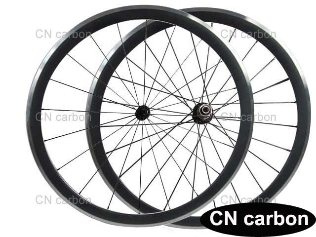 Aluminium braking surface R13 hub+ 424 spoke 38mm Clincher carbon bicycle wheels