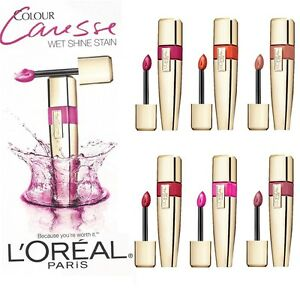 L-039-OREAL-Colour-Caresse-Wet-Shine-Stain-Lip-gloss-different-shades