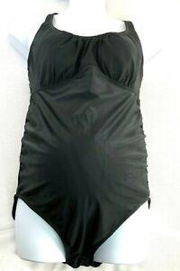 20791a7d9c92e Liz Lange Maternity One Piece Swimsuit Women's Size XL Ebony Twist ...